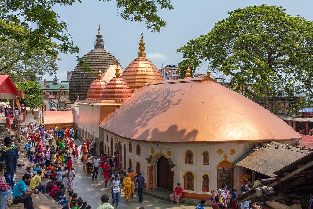 The Kamakhya Mandir temple in Guwahati