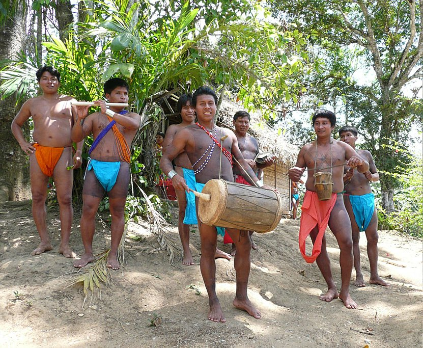 Enjoy indigenous beats in an Emberá village