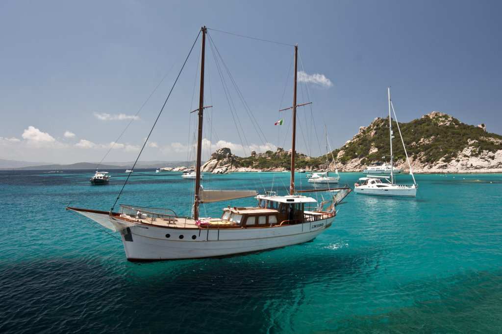 Sailing in La Maddalena archipelago