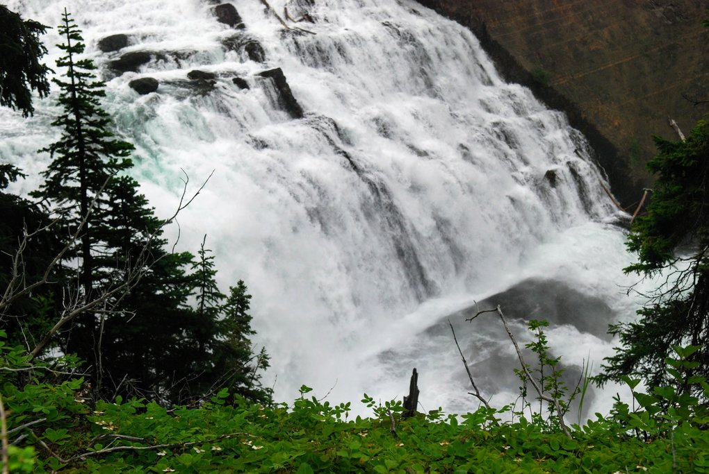 Cascade Falls, accessed by canoe off Highway 37