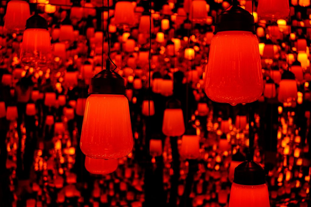 Lanterns at Odaiba's  Mori Building Digital Art Museum; Photo Courtesy of Abdul Mannan Yousfani/Shutterstock