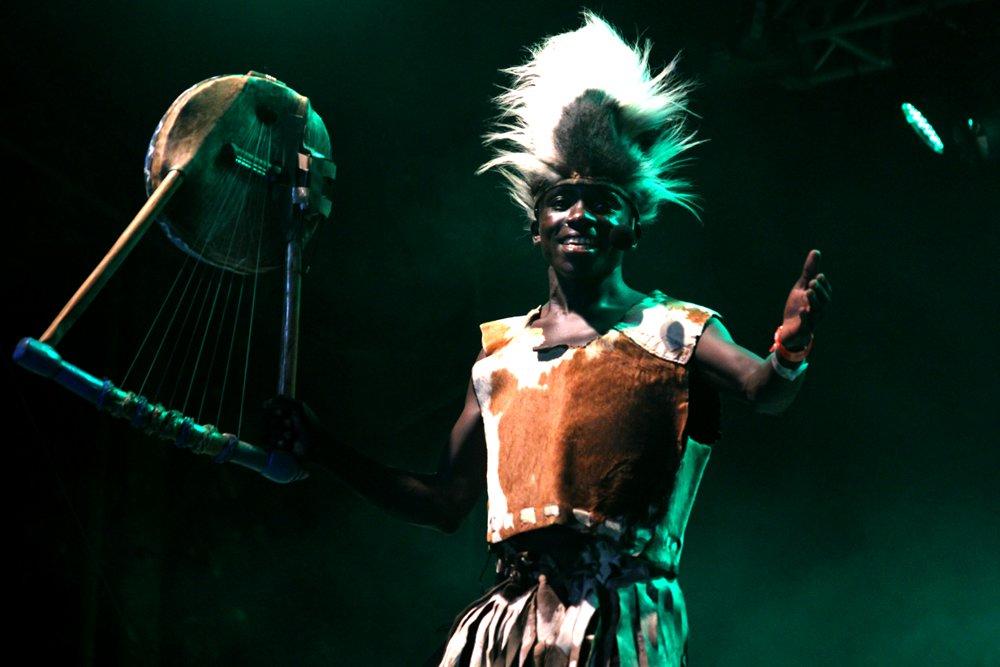 A musical performer in Kisumu
