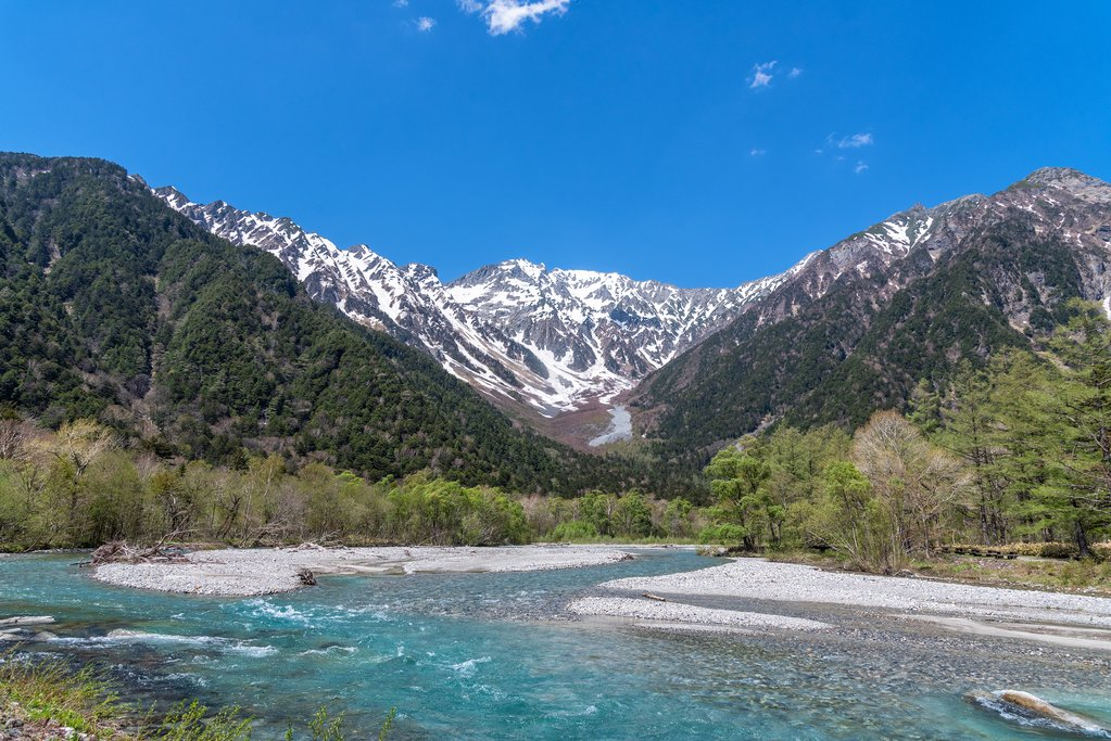 The Azusa River in the Japanese Alps