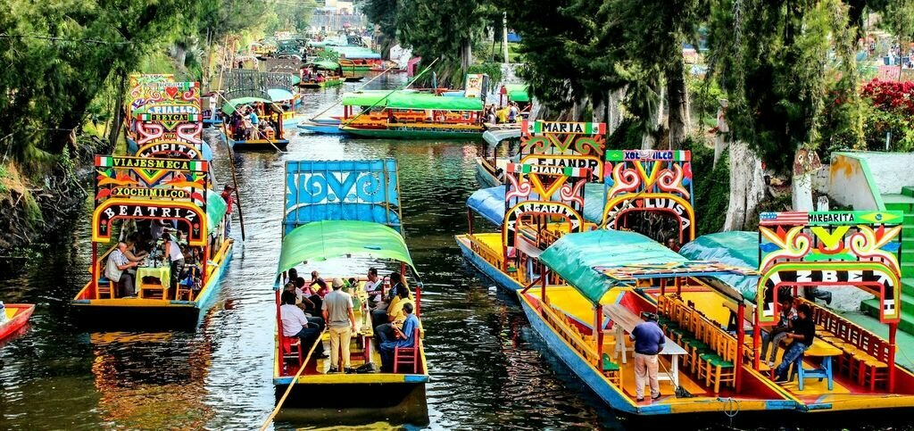 Wooden boats on the canal