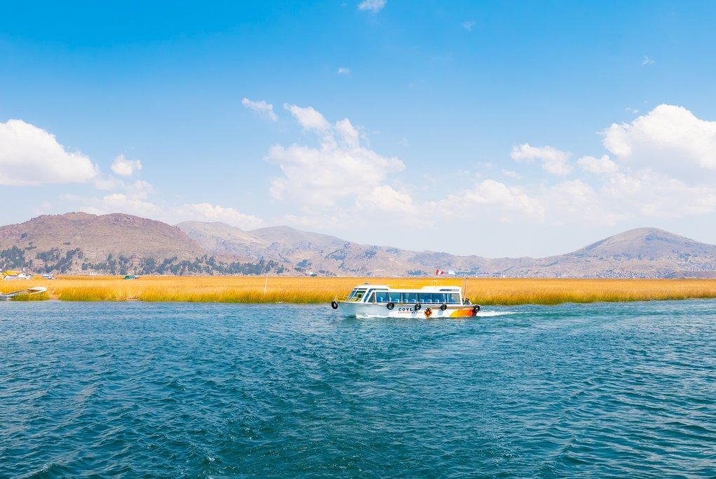 Boating on Lake Titicaca, Peru