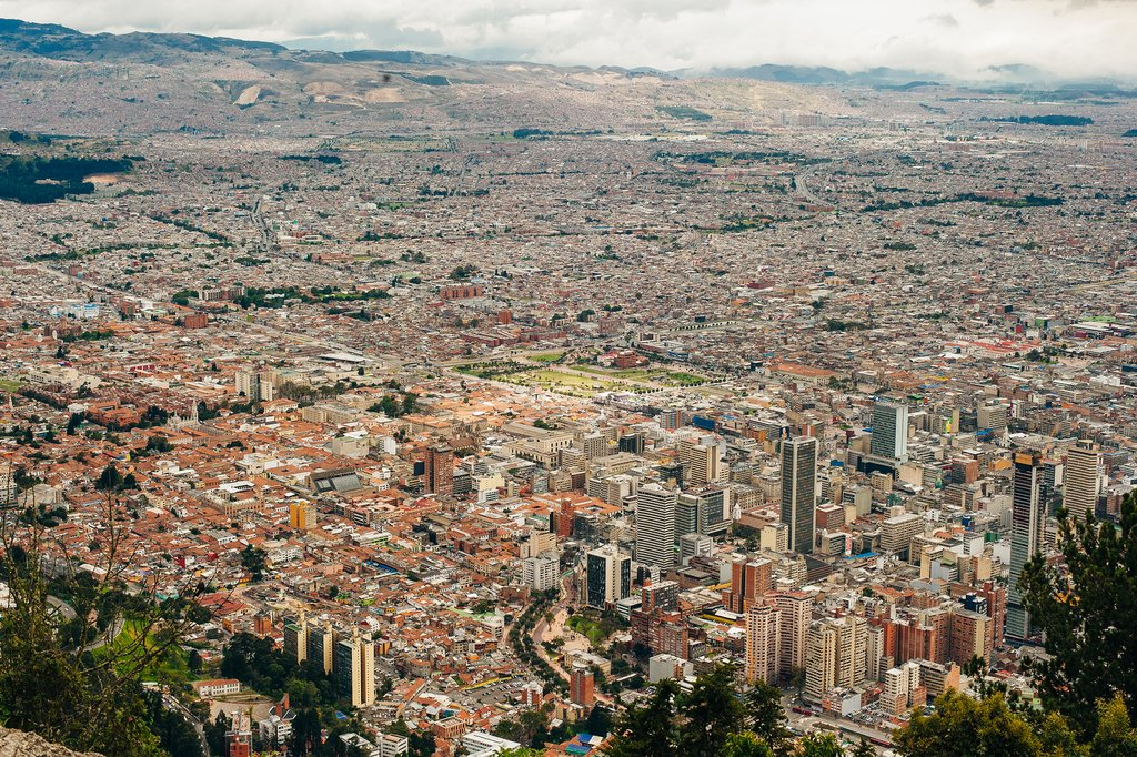 Views of Bogota from atop Monserrate Mountain