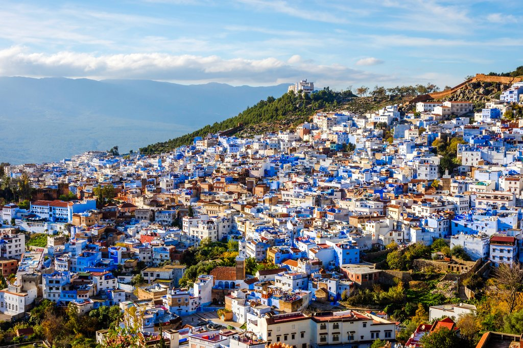A panoramic view of Tangier, Morocco