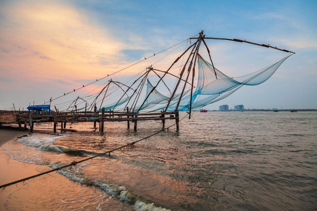 Chinese fishing nets near Cochin