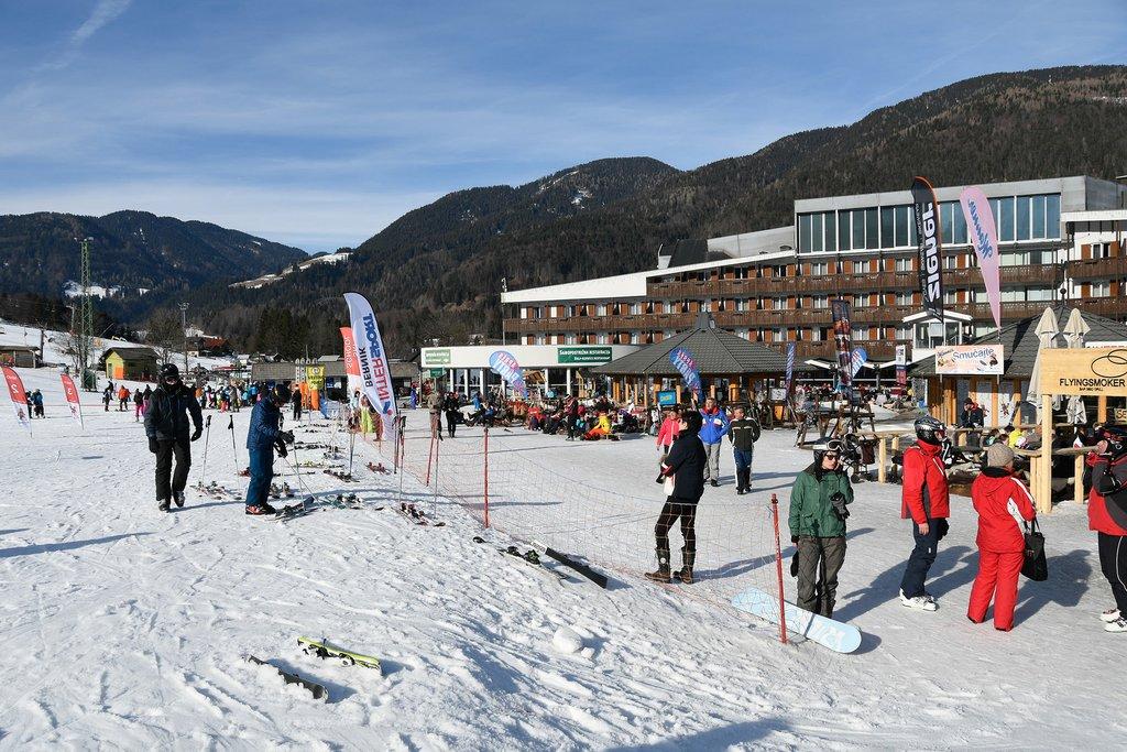 The slopes of Kranjska gora ski resort