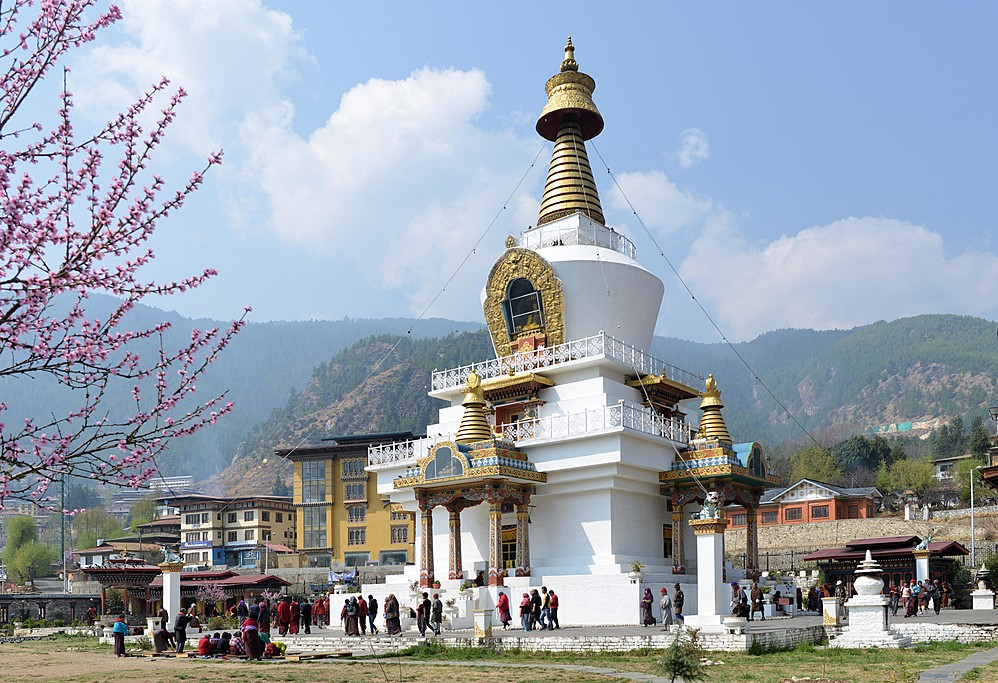 The Memorial Chorten in Thimphu