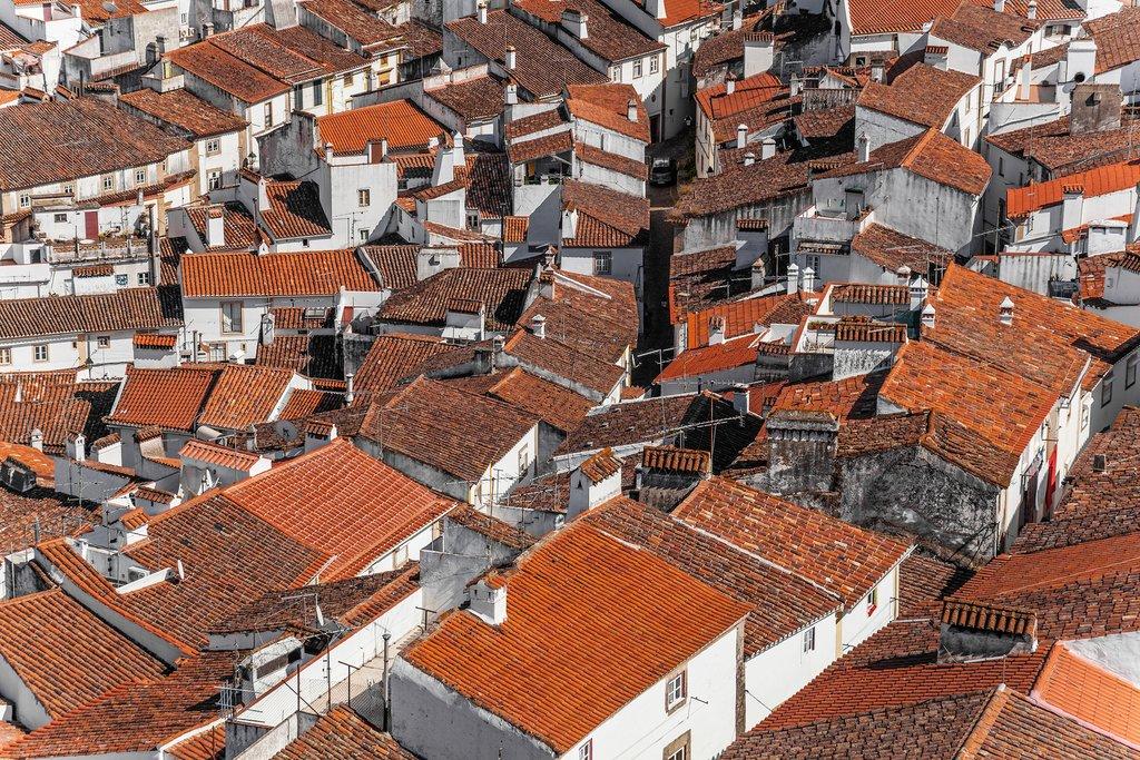 Aerial view of an Alentejo town