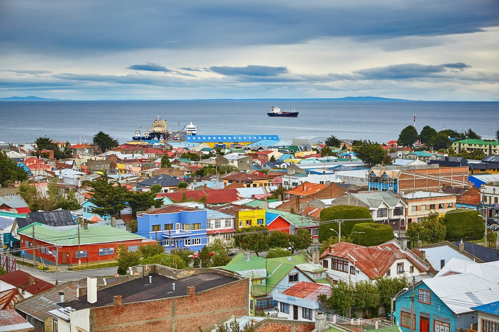 An aerial view of Punta Arenas