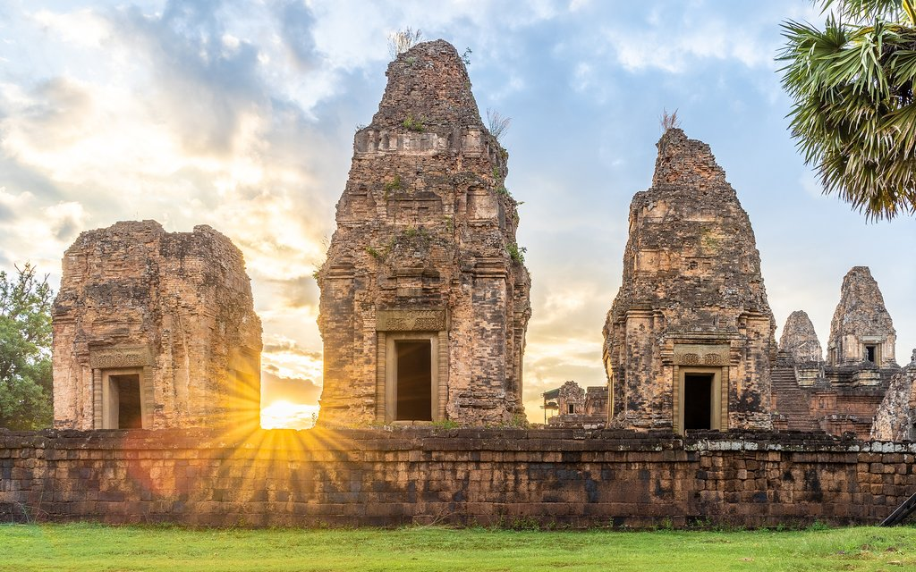 Watch the sun rise and set over the ancient temples of Angkor