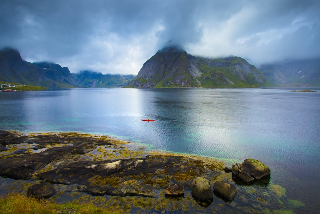 Kayaking near Reine