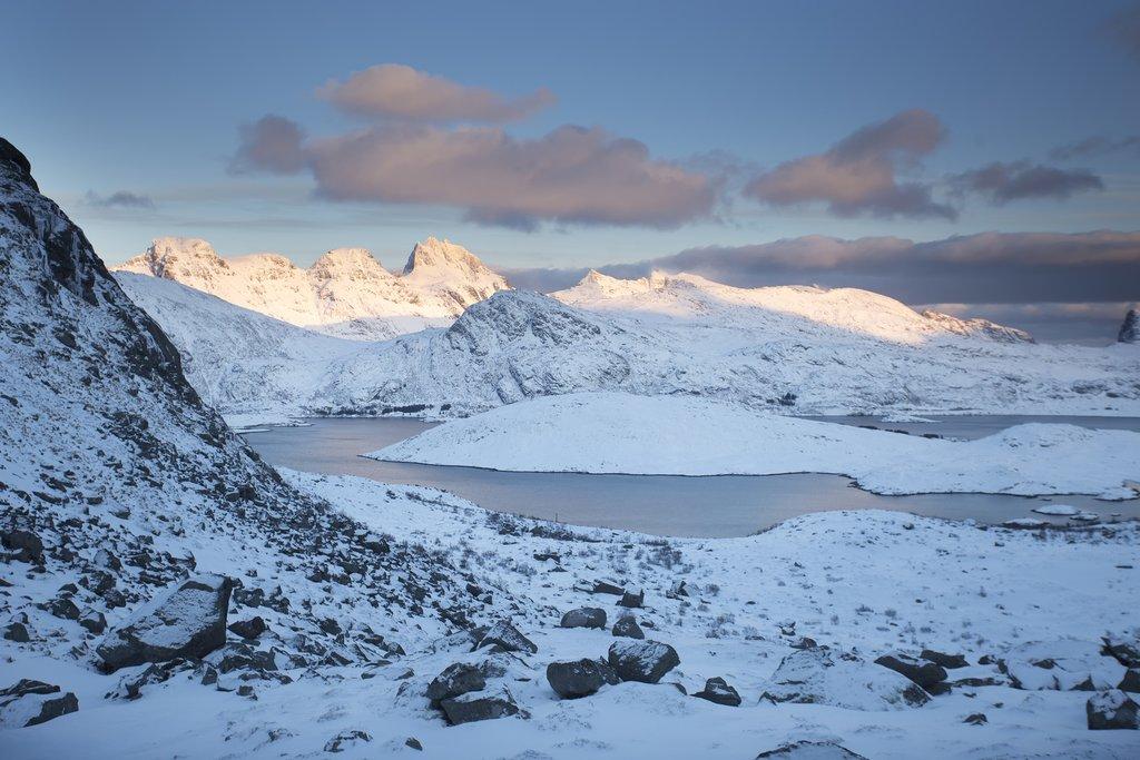 Scenic Norwegian view on the Lofoten Islands