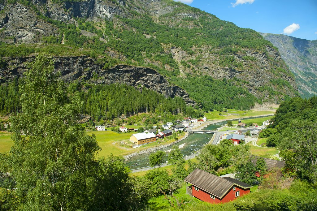 Scenery between Myrdal and Flåm