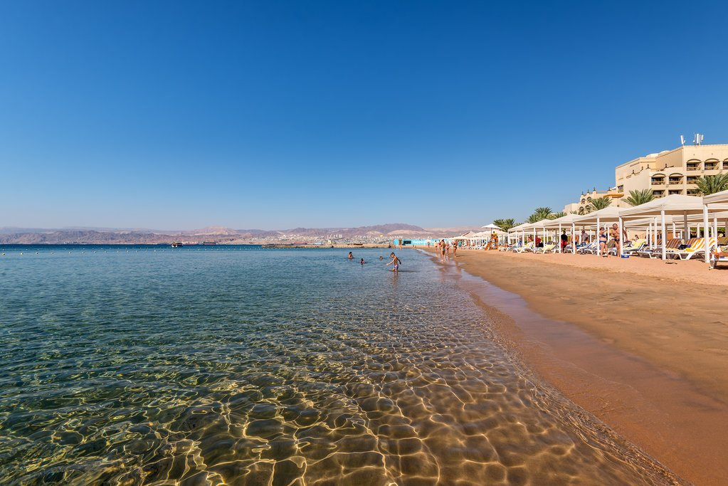 The relaxing coast of Aqaba, Jordan