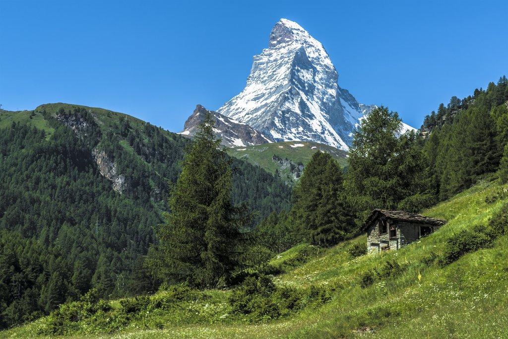 Hillsides surrounding the Matterhorn