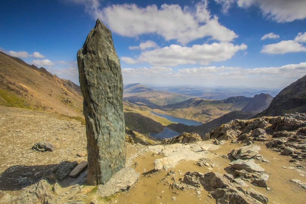 The views from the top of Snowdon are spectacular
