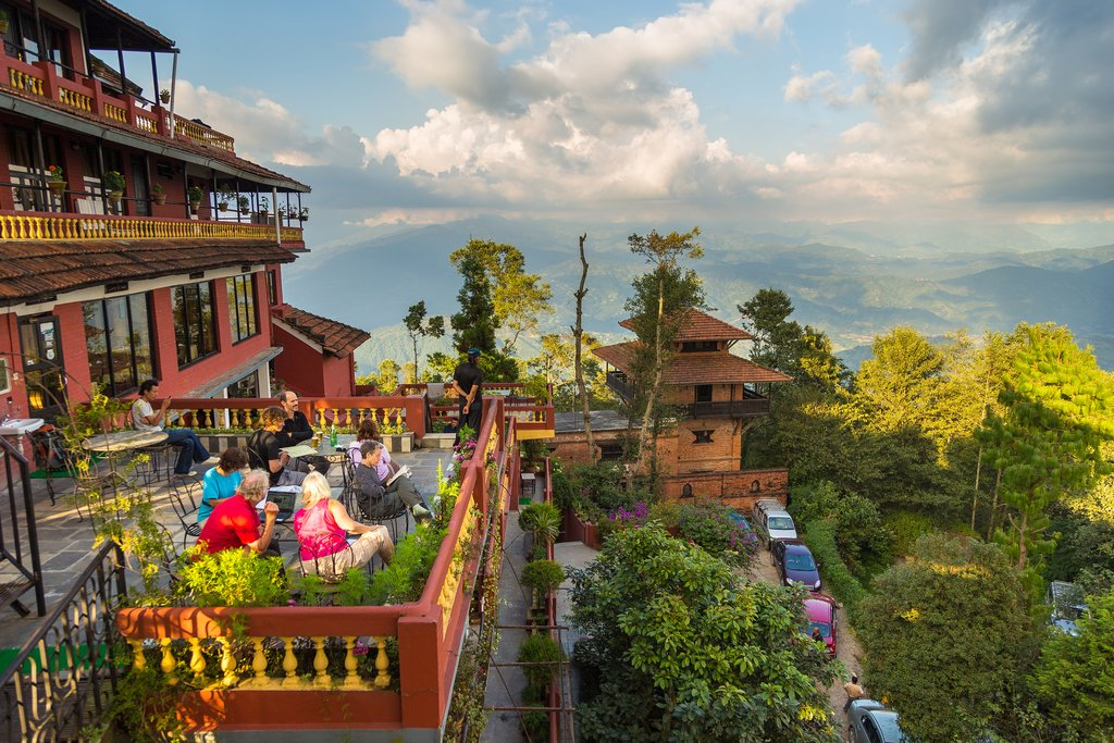 Terrace relaxation in Nagarkot