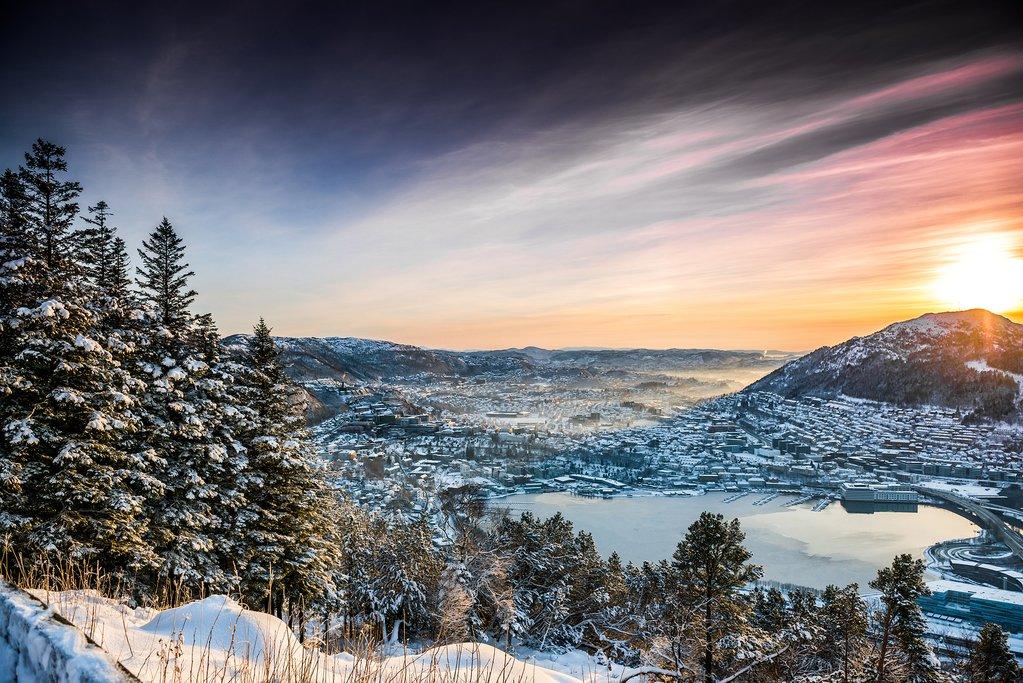 Mountains surrounding Bergen
