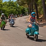 Vintage Vespa rally in Tuscany