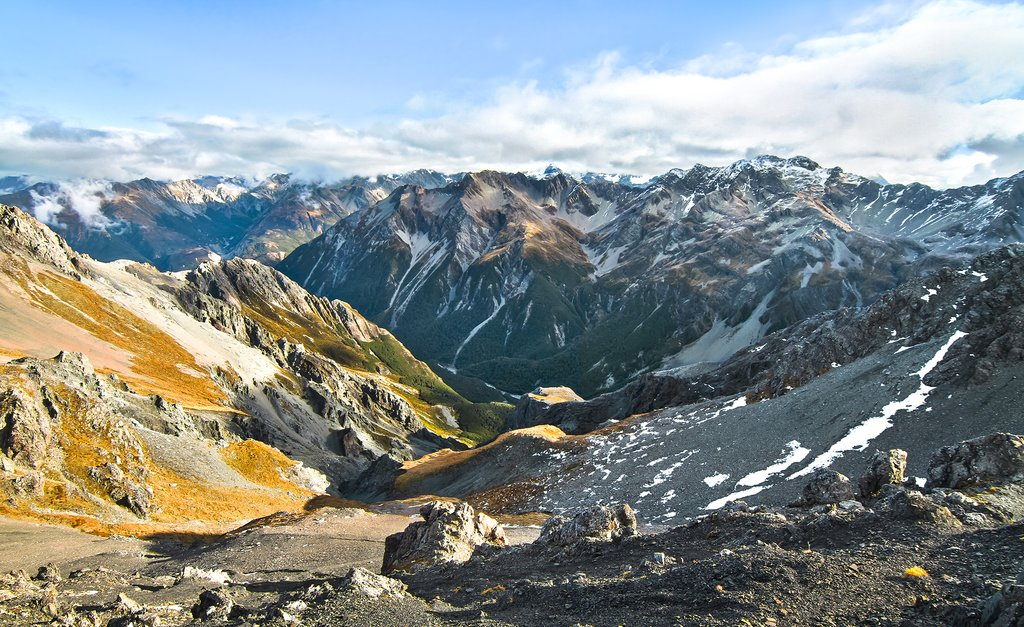 Take in views of Arthur's Pass National Park on a scenic train ride