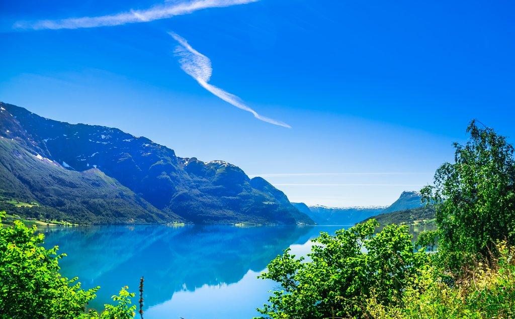 Fjord views near Fjærland