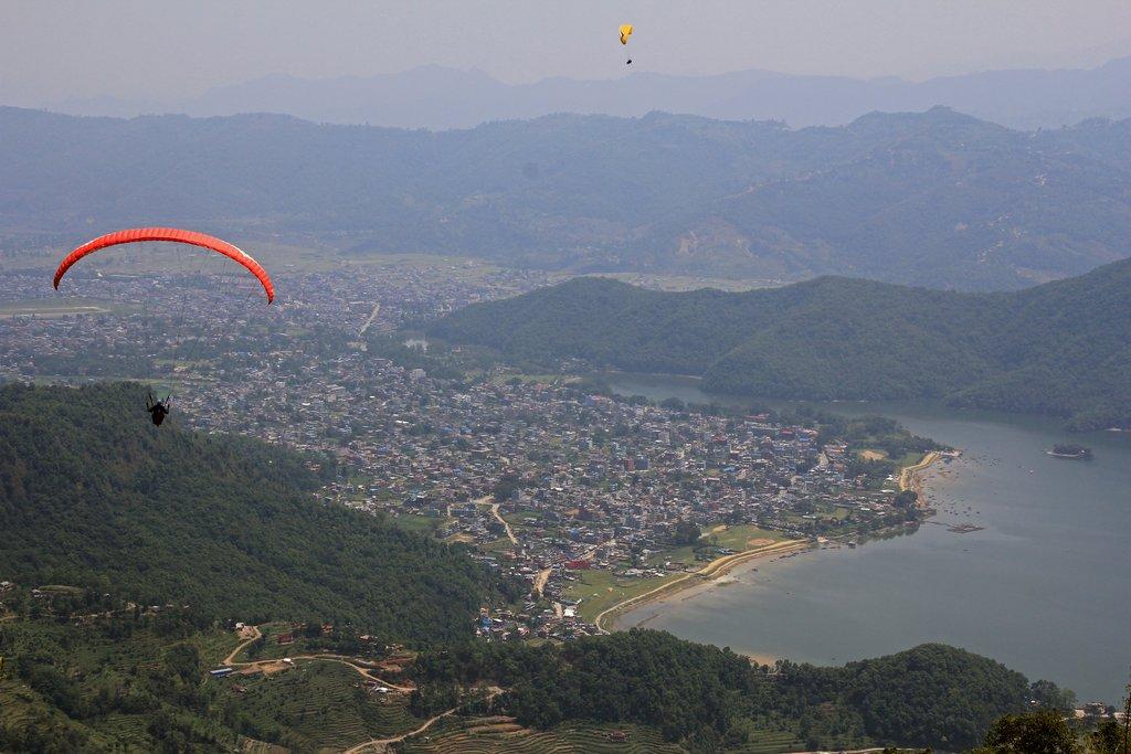 Paragliding near Pokhara