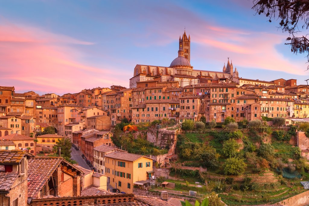 Medieval Siena at Sunset