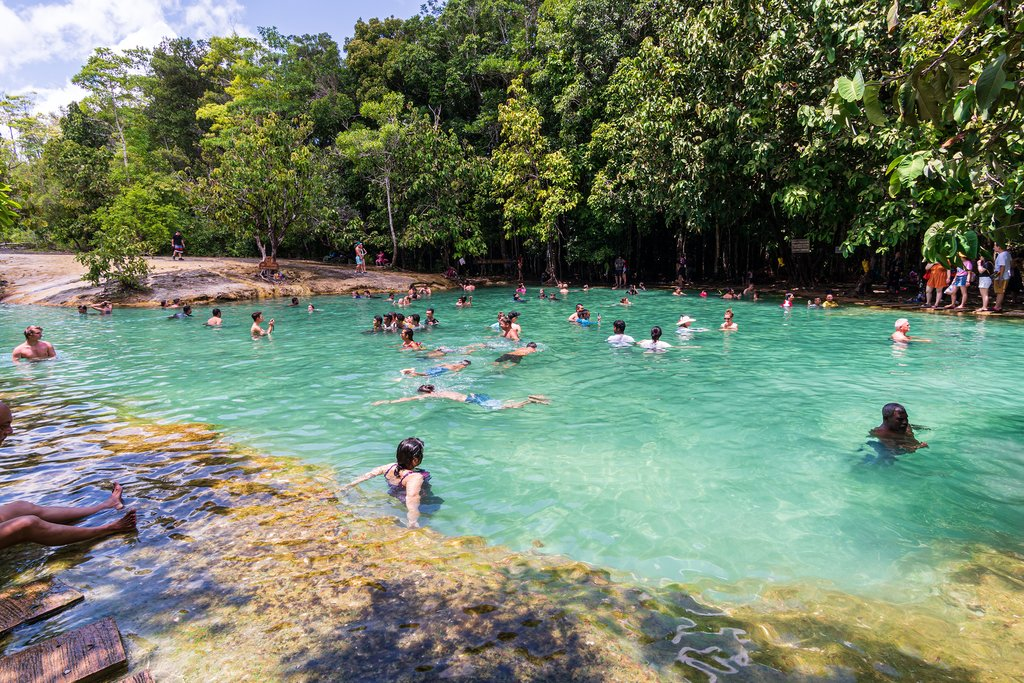 Swimming in the Emerald Lagoon