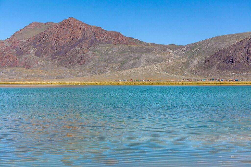 A mountain lake in Altai Tavan Bogd National Park