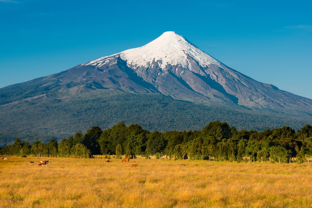 Driving closer to Osorno Volcano
