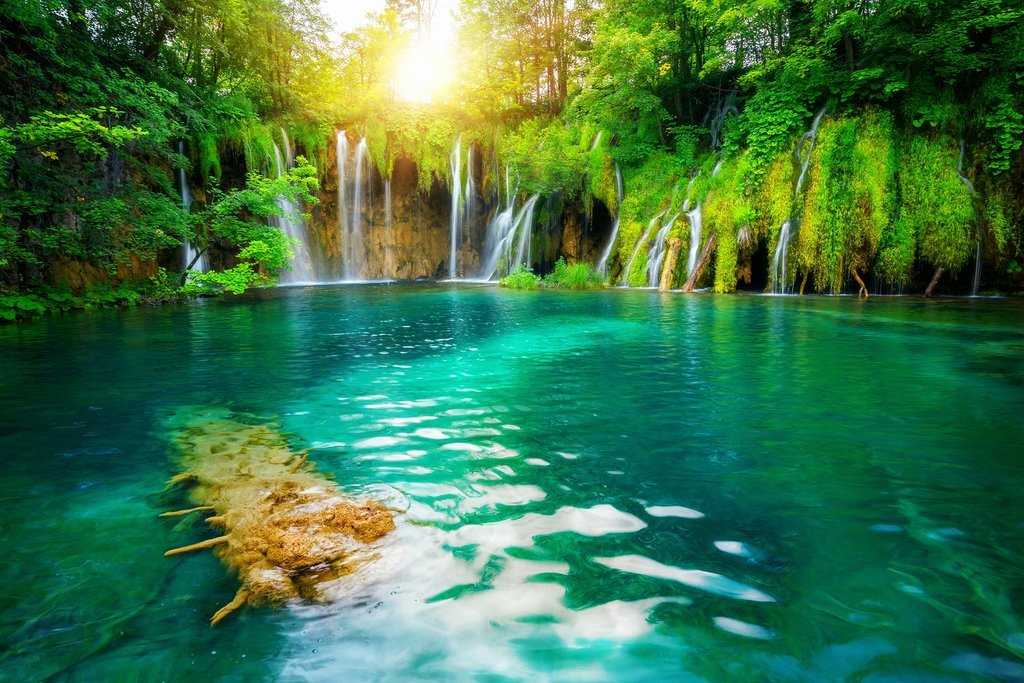 Discover Plitvice Lakes in the early morning light