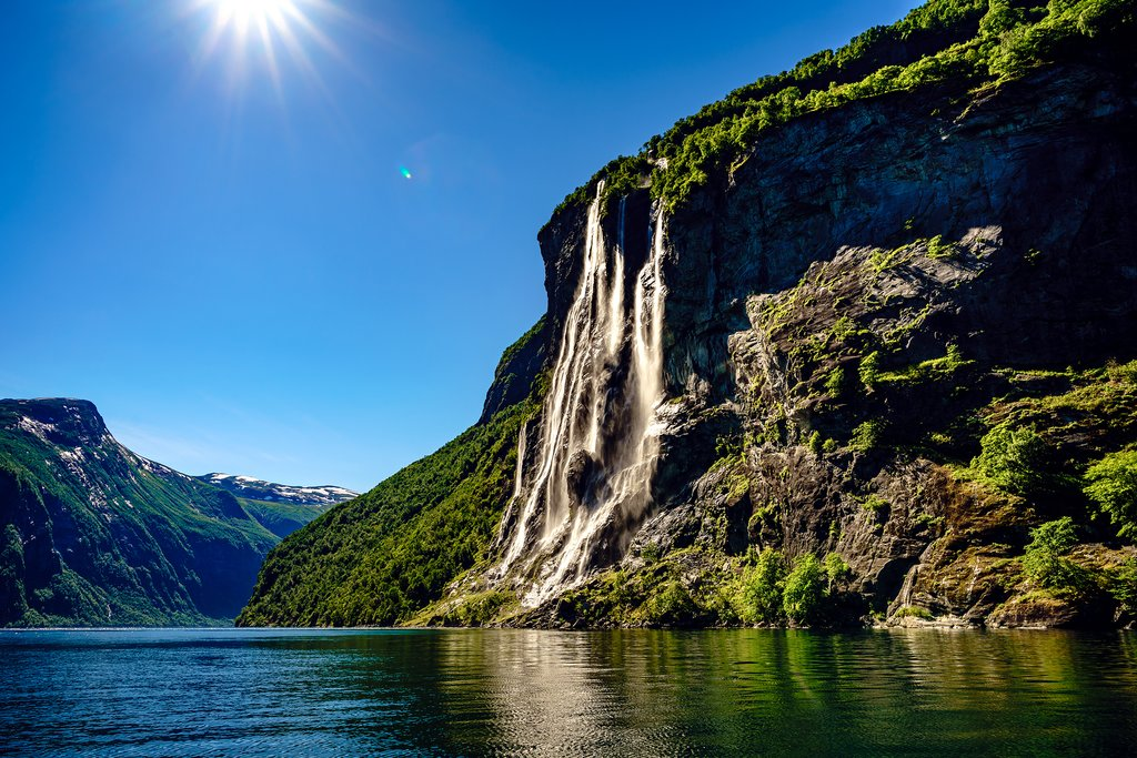 Waterfalls along the Geirangerfjord