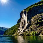 Waterfalls along the Geirangerfjord