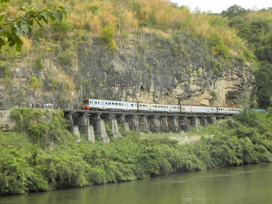 "Riding the ""Death Railway"" from Thanbyuzayat, Myanmar"