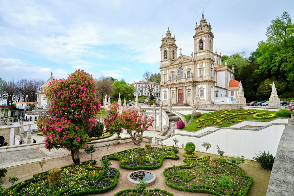 The stunning Sanctuary of Bom Jesus do Monte in Braga