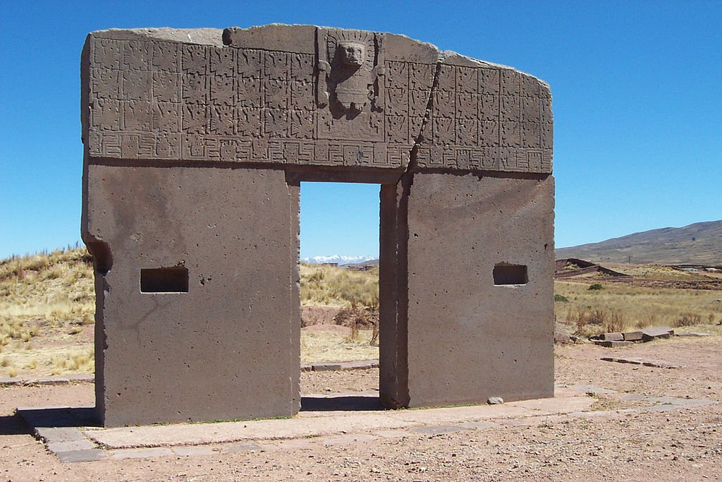 The Gate of the Sun in Tiwanaku.