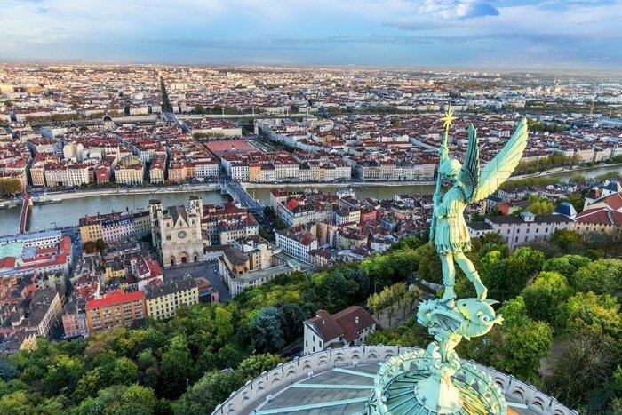 The historic skyline of Lyon