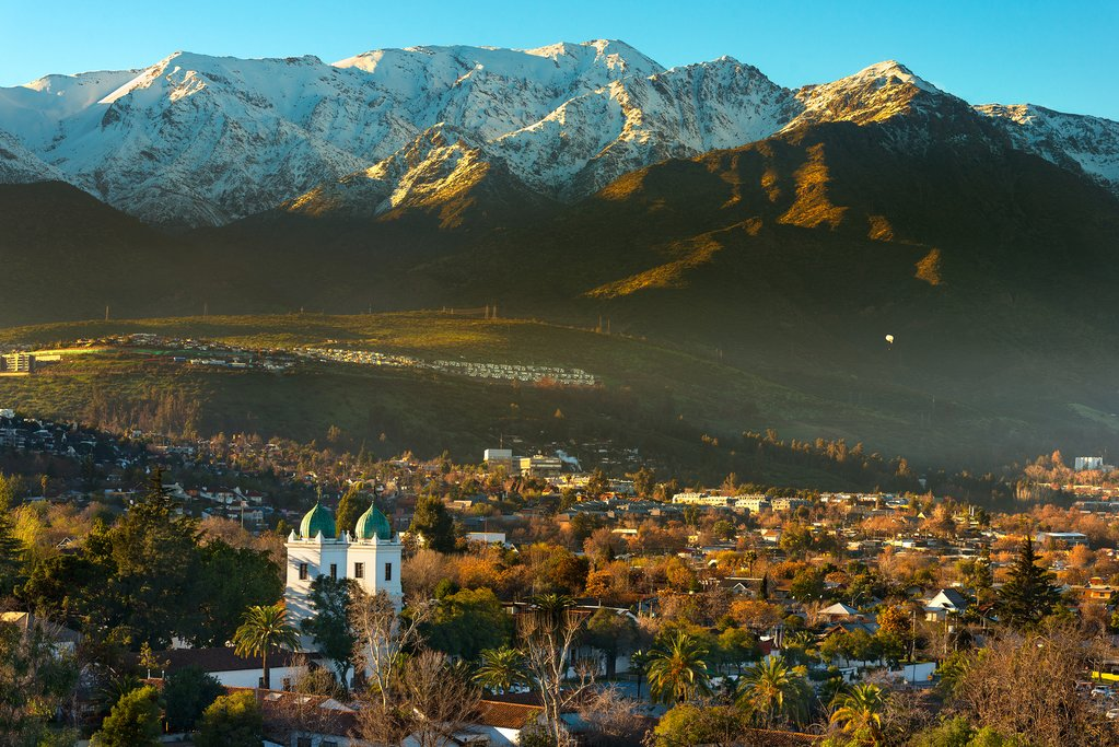 Catch a final glimpse of the Andes from your departing flight