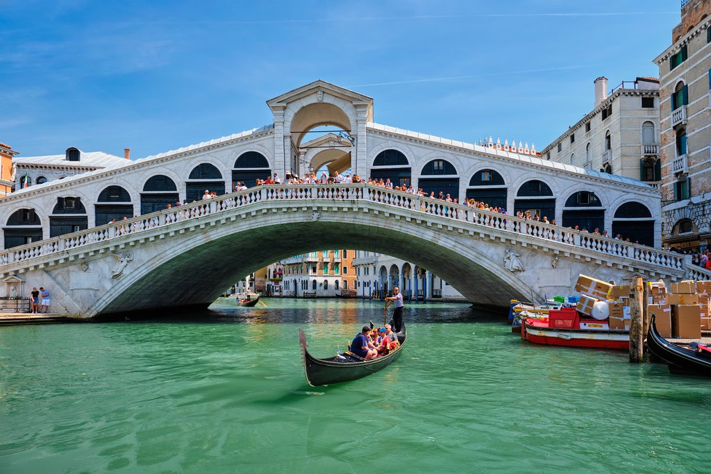 Take a ride under the Grand Canal