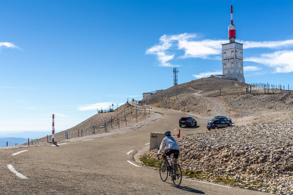 Cycling to the top of Mont Serein Ventoux, Provence