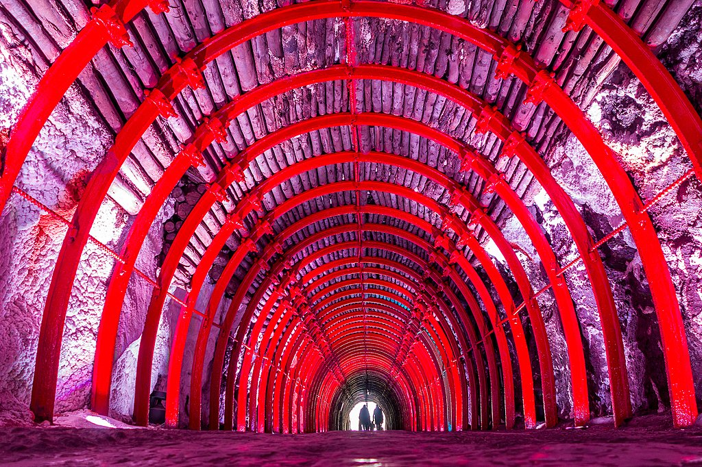 Tunnel to Zipaquira's Salt Cathedral