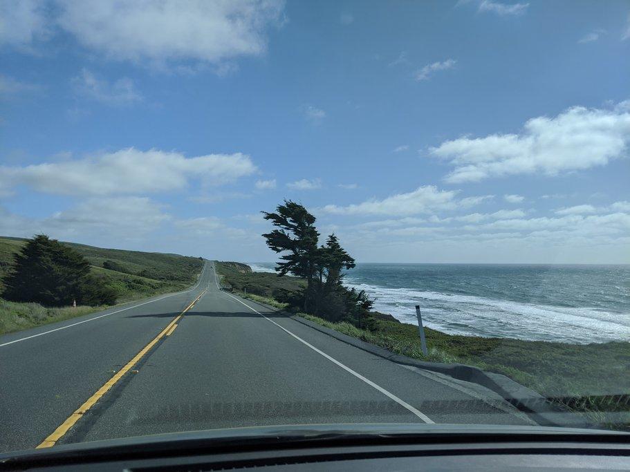Heading South on Highway 1 towards Pescadero