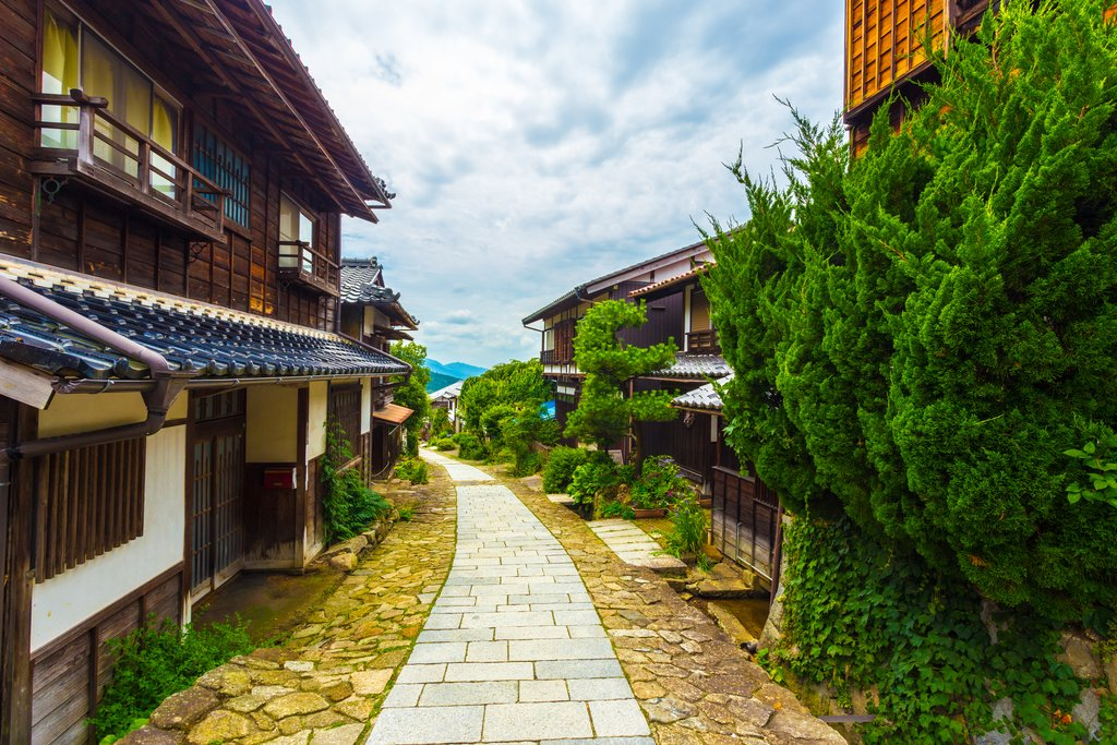 Nakasendo Trail in Magome, Japan