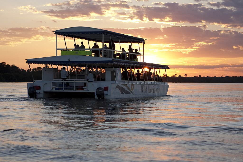 Sunset river cruise on the Zambezi