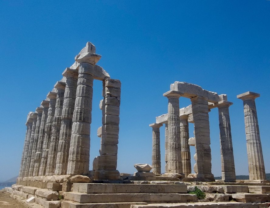 The Poseidon Temple at Cape Sounion (Photo courtesy of Pixabay)