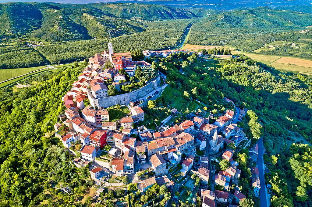 The idyllic medieval town of Motovun, Istria