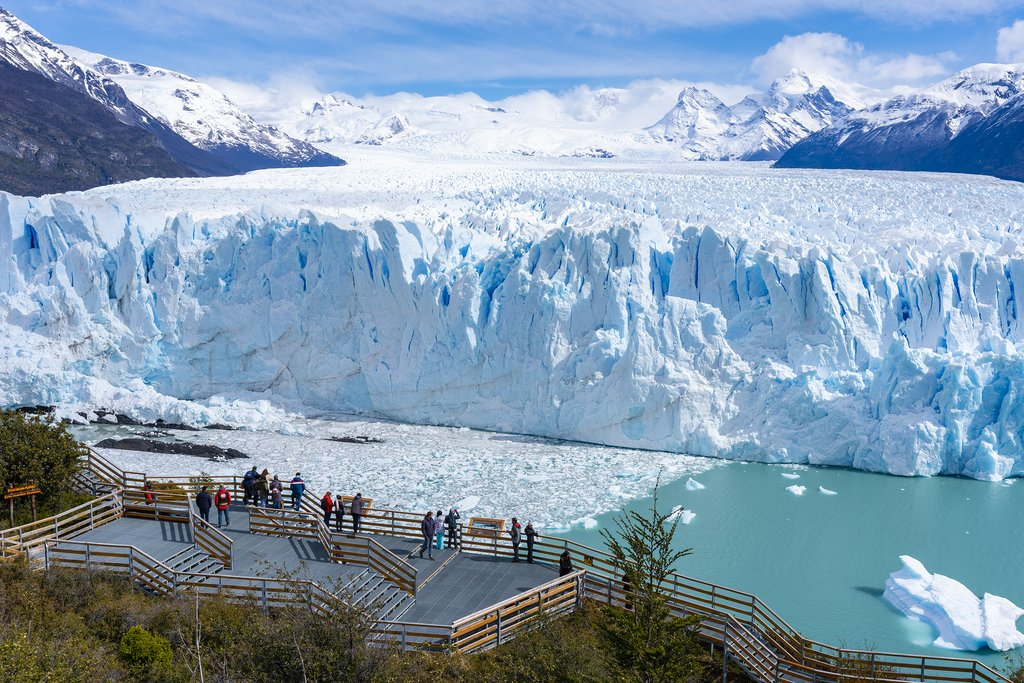 View of Perito Moreno from the boardwalks